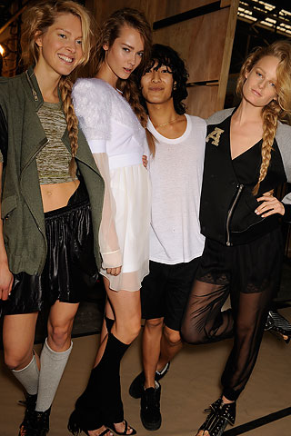 Alexander Wang backstage at his Spring/Summer 2010 show for New York Fashion Week