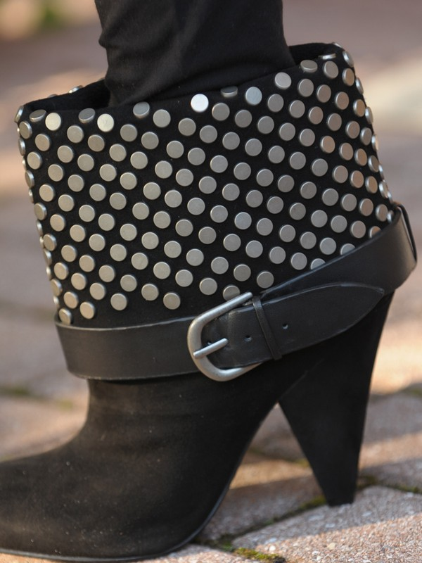 <i>Halle</i> suede studded booties