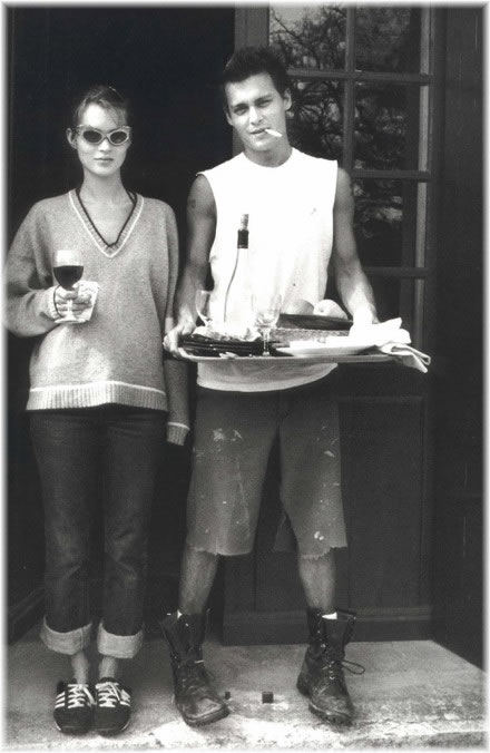 kate moss johnny depp. Kate Moss and Johnny Depp