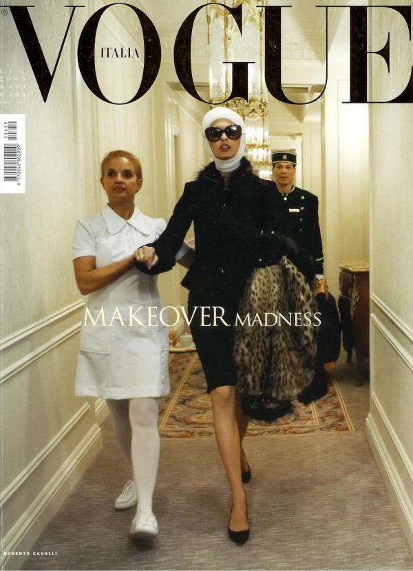Vogue Italia cover July 2005 Makeover madness by Steven Meisel