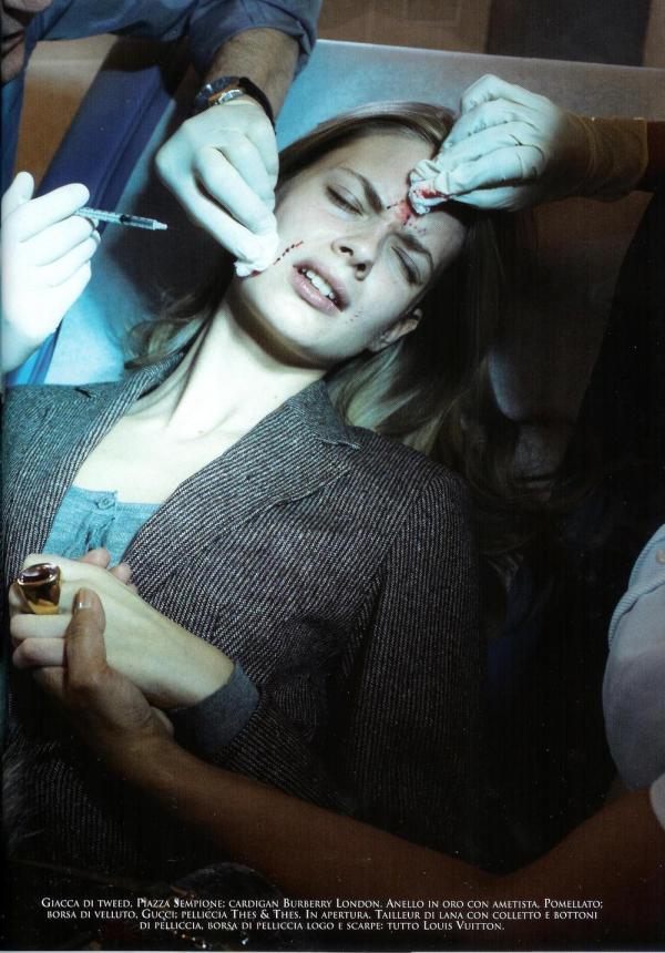 Julia Stegner Vogue Italia July 2005 Makeover madness by Steven Meisel Edward Enninful Pat McGrath