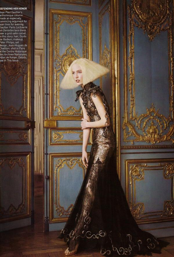 Alighting by Grace Coddington Raquel Zimmerman Vogue September Issue Couture