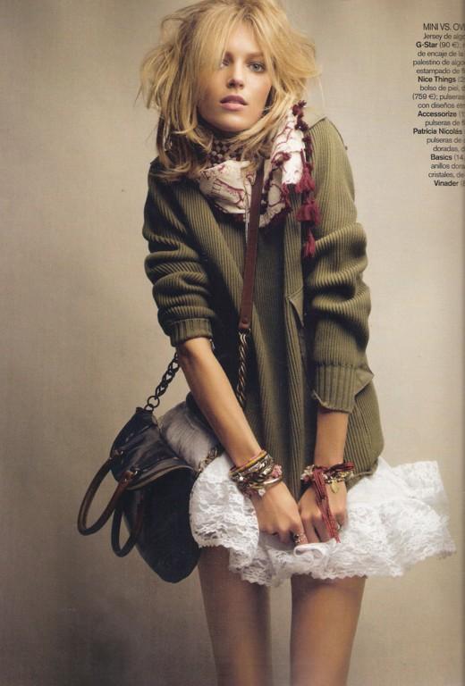 Anja Rubik by Patrick Dermachelier Vogue Spain, March 2010 sweater
