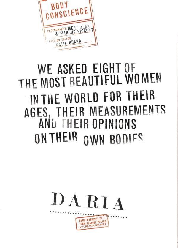 Daria Werbowy nude Mert & Marcus Love magazine issue 3