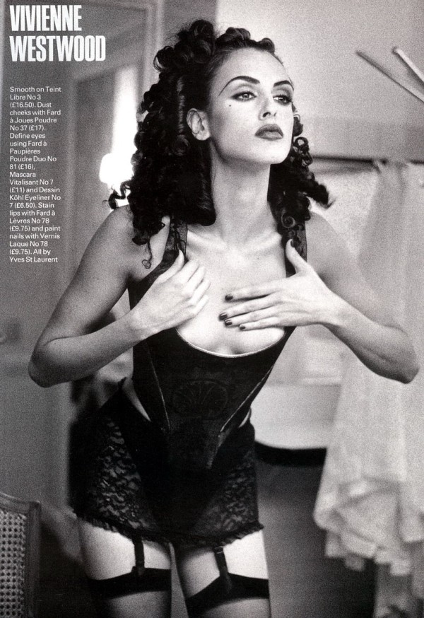 INTO THE BOUDOIR  Elle UK March 1992  Helena Barquilla photographed by Pamela Hanson