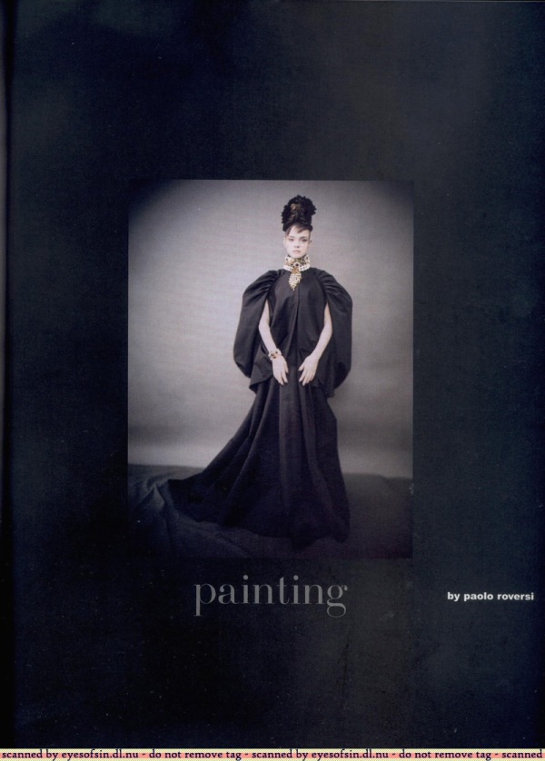 Natalia Vodianova in Like A Painting by Paolo Roversi   Vogue Italia Sept 2006 Supplement