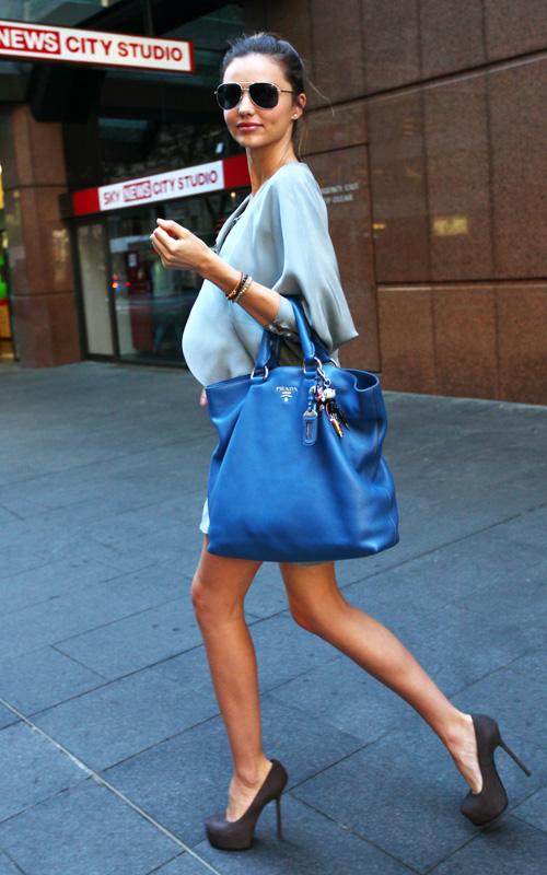 Miranda Kerr with Prada bag