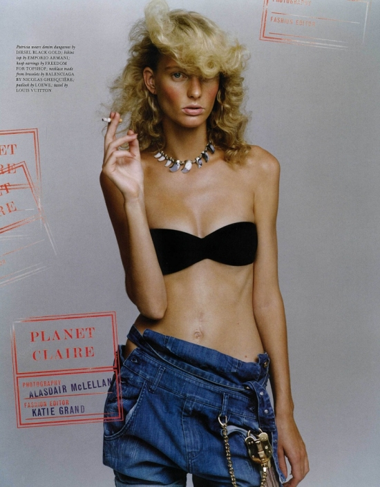 Patricia van der Vliet by Alasdair McLellan LOVE magazine katie grand pictures