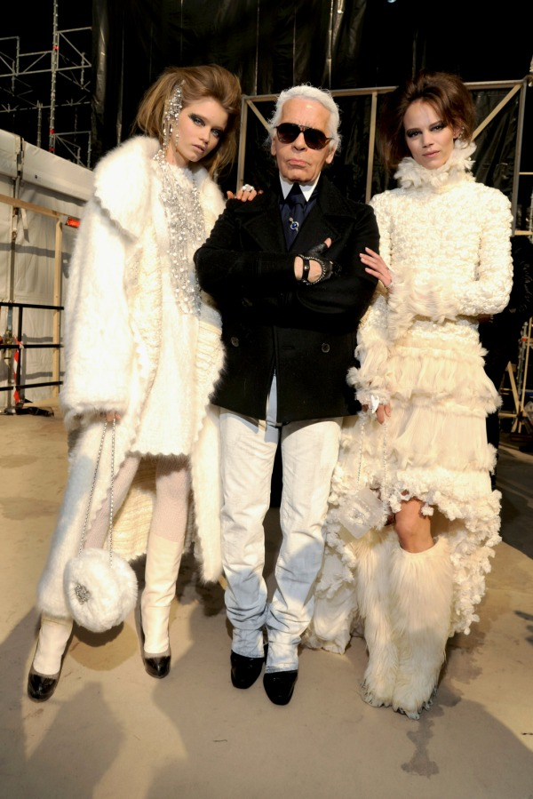Chanel F/W 2010 Paris backstage karl lagerfeld abbey lee kershaw Freja Beha Erichsen