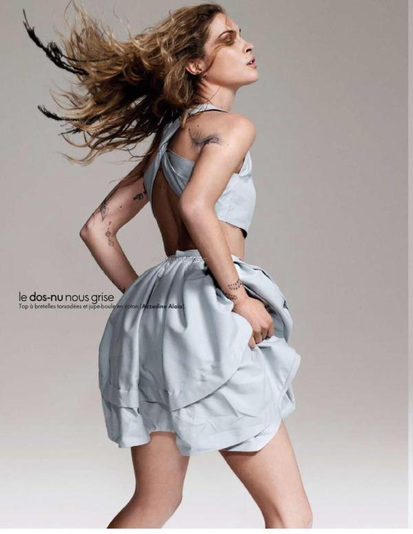 Erin Wasson tattoos model ELLE French March 2010 pictures