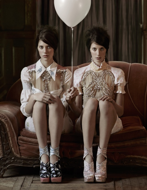 Ann Kenny and Tura Kenny in Miu Miu Interview Magazine March 2010