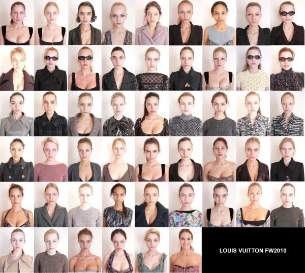 Louis Vuitton F/W 10.11 Paris model head shots