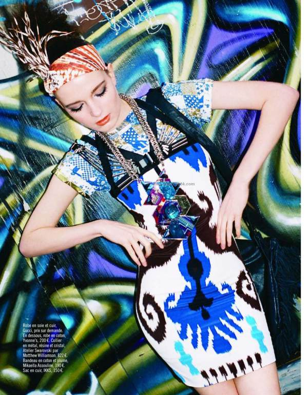 Sofi Berelidze by Kenneth Cappello  Glamour France March 2010 Africa remix