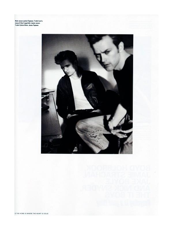 Boyd Holbrook, Jamie Strachan, Jake Boyle & Nick Snider by Sebastian Kim i-D Spring 2010