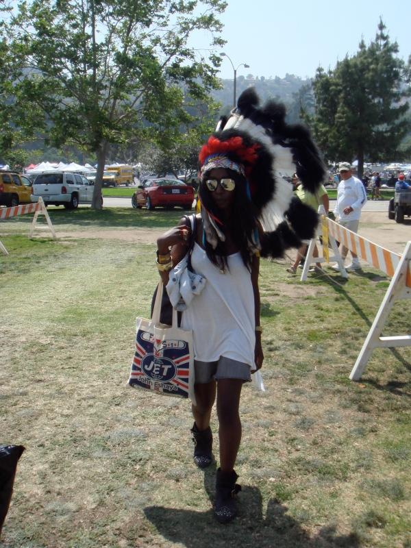 Indian headdress at Rosebowl flea market