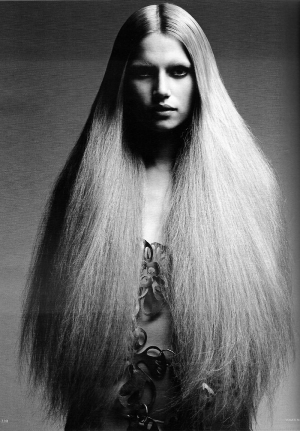 Hippie Yeah! photographed by Patrick Demarchelier for Vogue Germany May 2010 long hair images