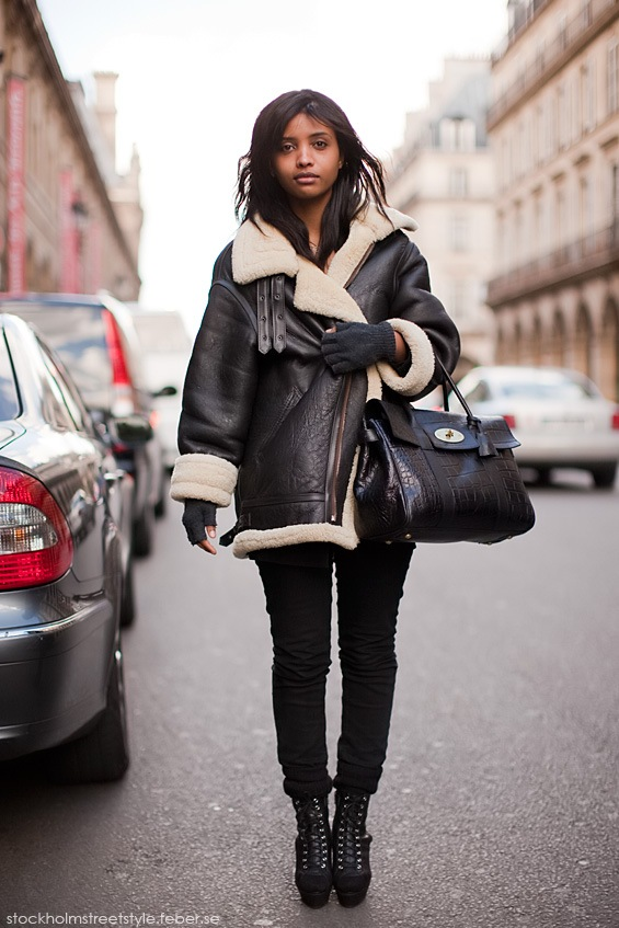 shearling coat stokholm street style