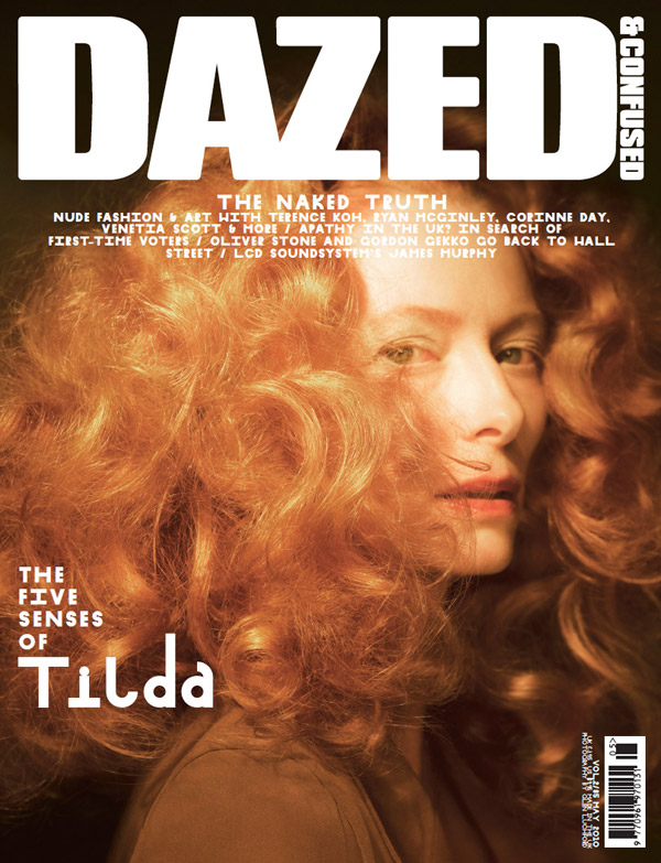 Tilda Swinton by Glen Luchford Dazed & Confused May 2010 Cover picture