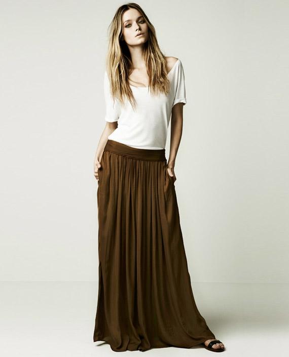 Zara May Lookbook silk maxi skirt chloe