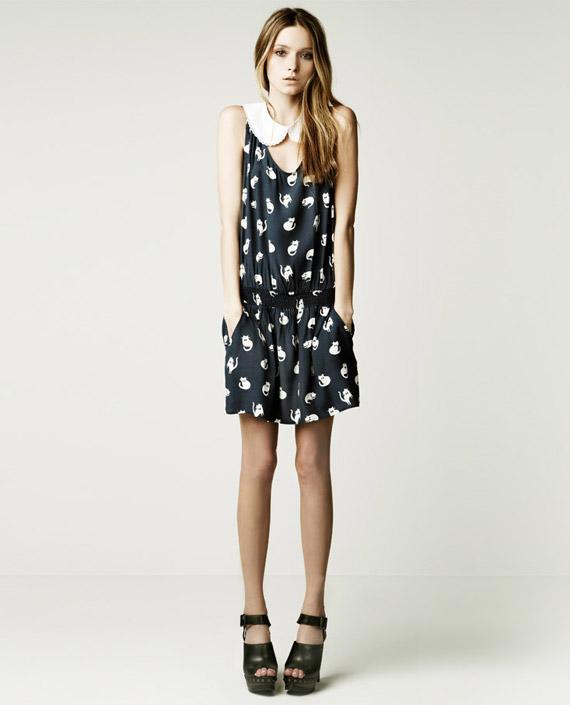 Zara May Lookbook cat print dress Miu Miu
