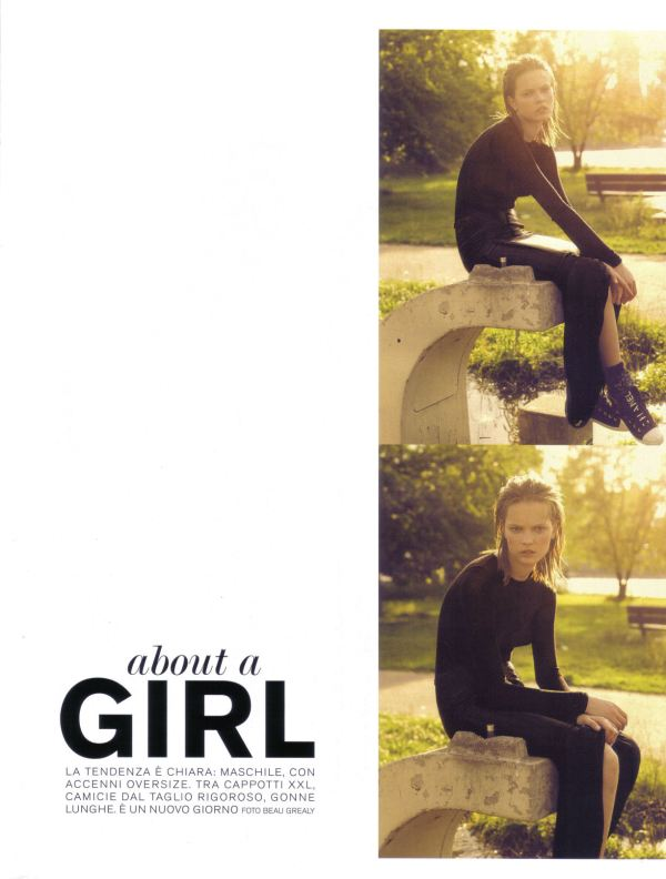 """About a Girl"" Mina Cvetkovic by Beau Grealy Flair Italy August 2009"
