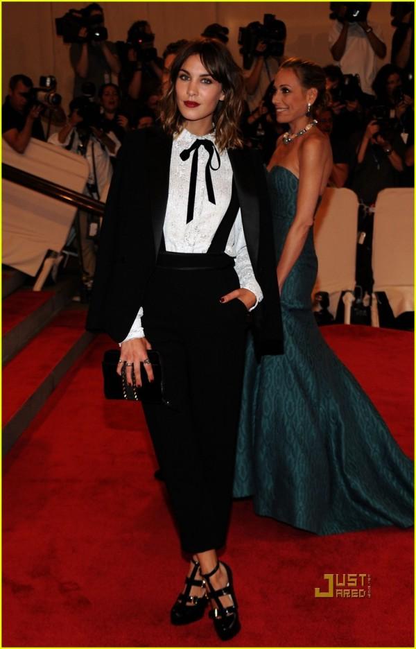 alexa chung tv presenter model british style icon 2010 met ball 3.1 phillip lim tuxedo pictures