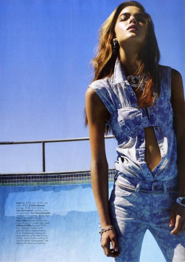 bambi model harpers bazarre australia fashion editorial ksubi denim
