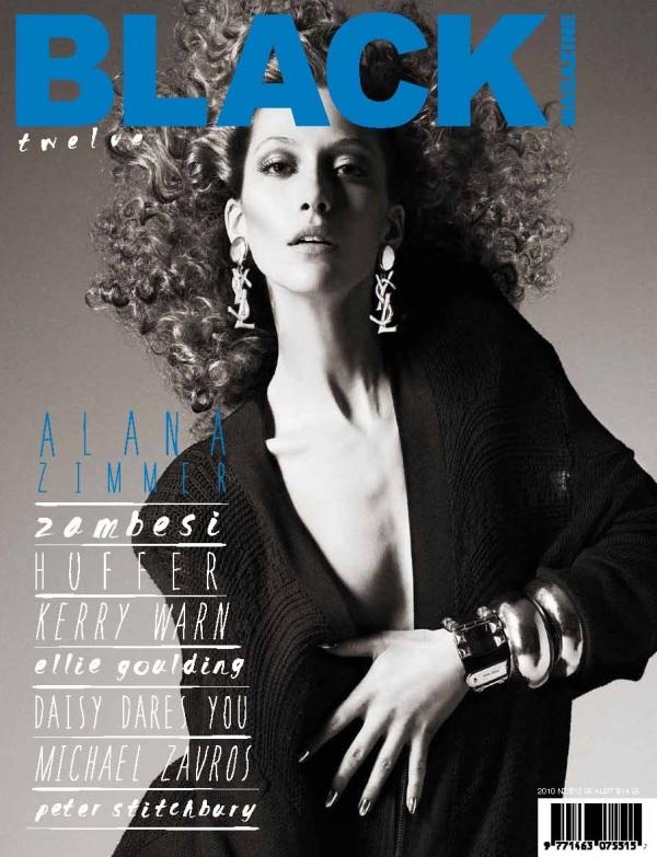 Black Magazine #12  ph: Michael Schwartz alana zimmer model