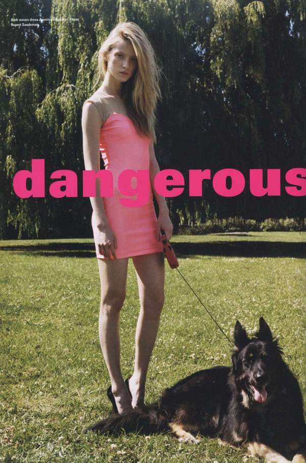 Dangerous styled by Cathy Kasterine photograhed by Pierre Bailly i-D Pre-Fall 2009
