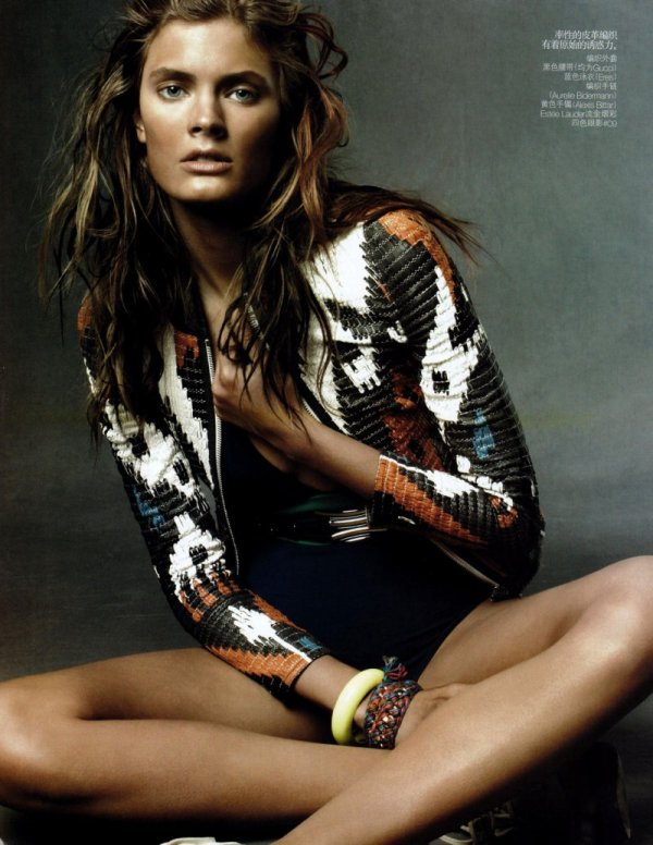 Constance Jablonski by Daniel Jackson in Wild Child Vogue China June 2010