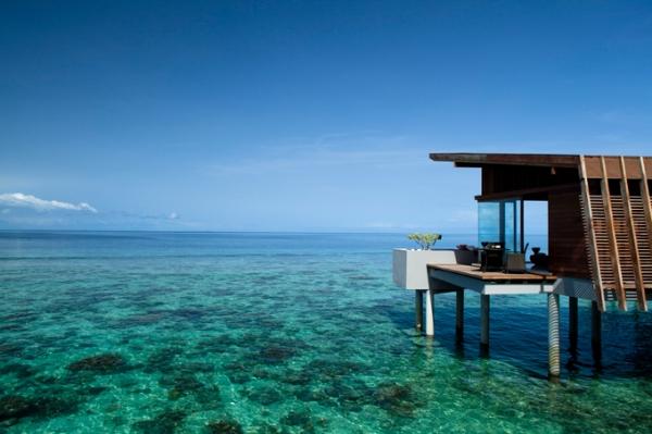 waterfront paradise hut