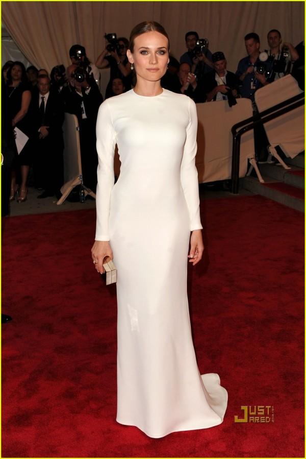 diane kruger actress model met ball 2010 calvin klein dress