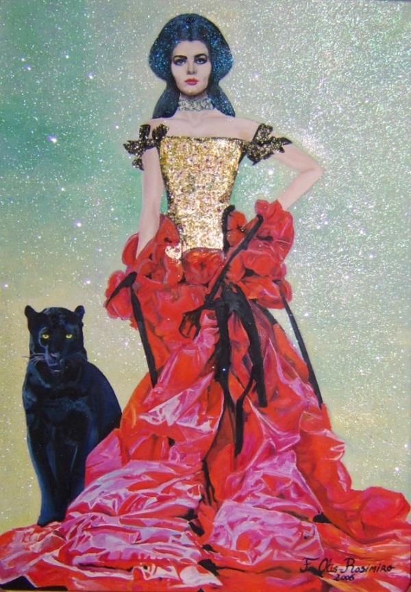 Femme à la panthère noire by Floria Rosimiro