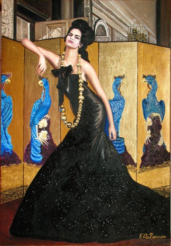 Femme au paravent doré by Floria Rosimiro