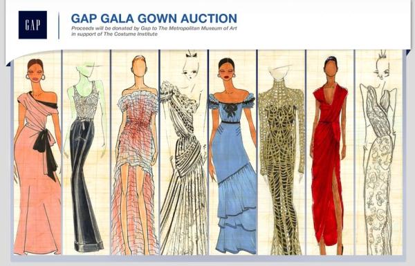 gap gala auction website screenshot picture