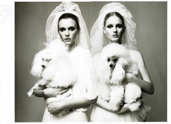 Sigrid Agren & Patricia van der Vilet by Glen Luchford in Just the Two of Us | Vogue Nippon June 2010