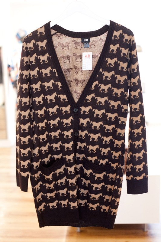 H&M Fall/Winter 2010-11 Lookbook horse print cardigan