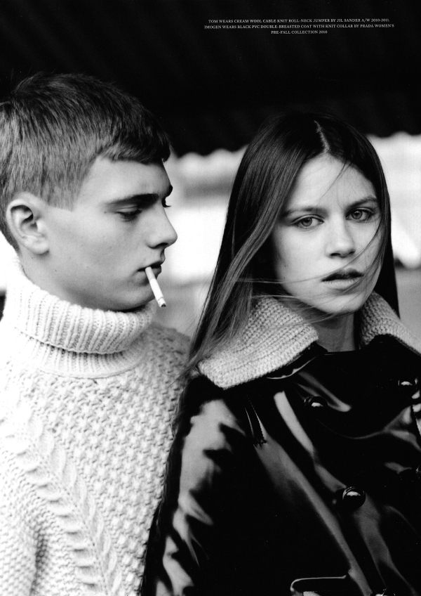 "Dree Hemingway, Imogen Newton, Tom Lander, and Darryl by Alasdair McLellan ""It Couldn't Happen Here"" Arena Homme + Spring/Summer 2010"