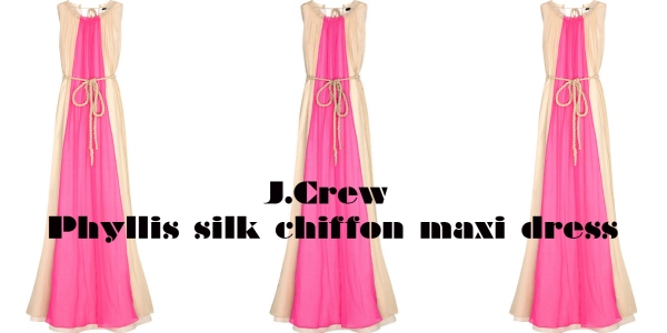 J Crew Phyllis silk chiffon maxi dress net-a-porter.com fashion