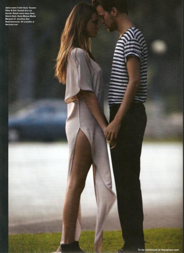 Behati Prinsloo & Jamie Strachan  Photographed by Kayt Jones i-D magazine summer 2010 models dating fashion