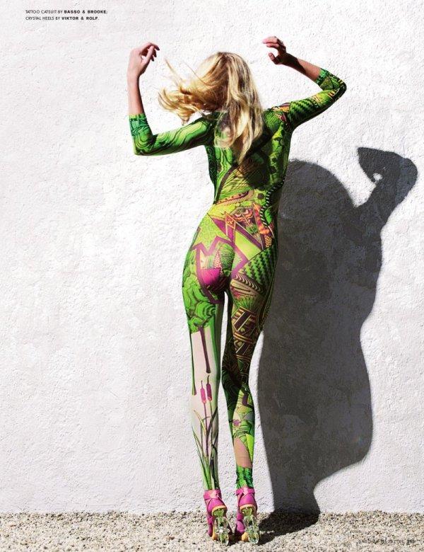 Lara Stone by Horst Diekgerdes AnOther Spring/Summer 2007 fashion editorial