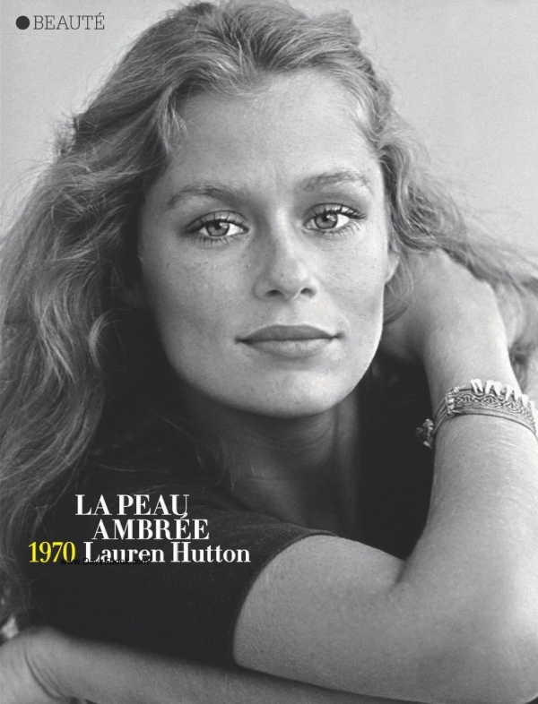 young lauren hutton 1970 glamour france may 2010
