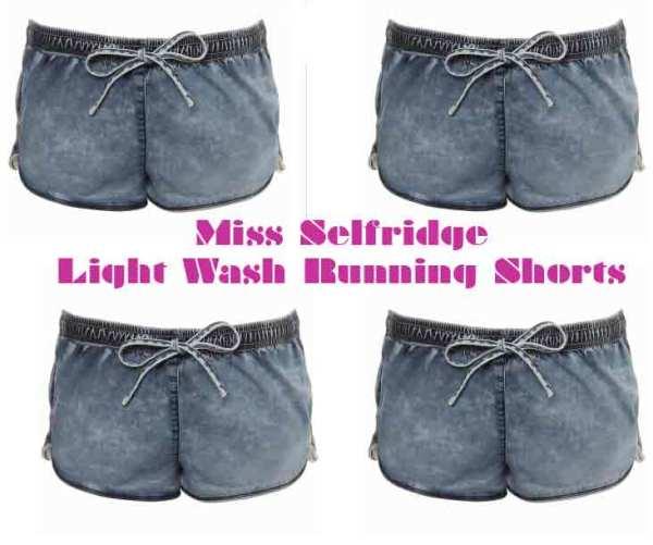 Miss Selfridge - Light wash running shorts image fashion picture