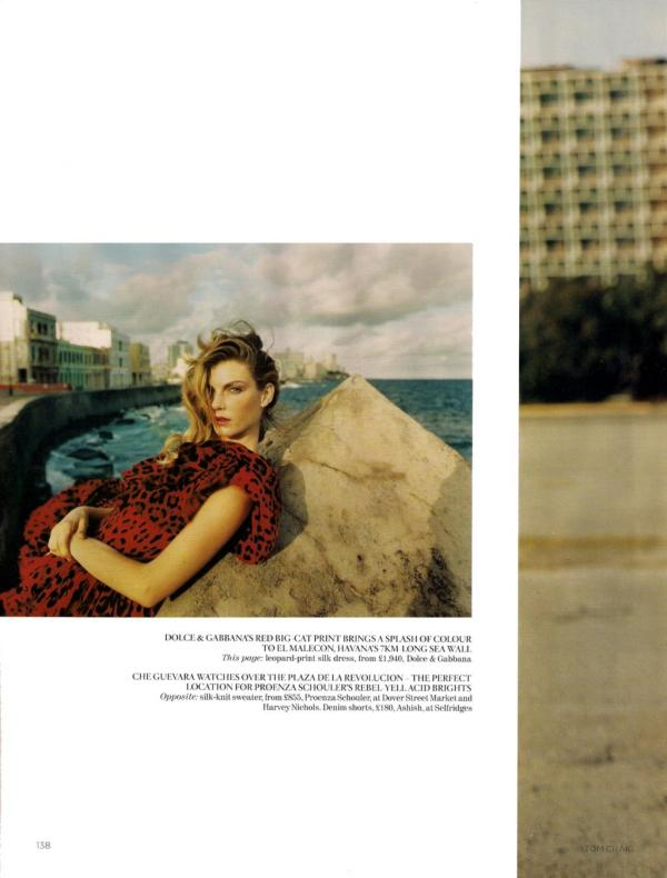 UK Vogue June 2010 : Angela Lindvall by Tom Craig
