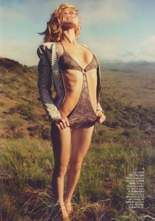 Masha Novoselova photographed by James Macari for Vogue España, June 2010 fashion editorial