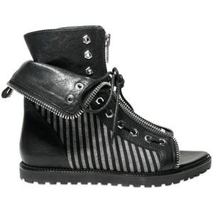 alexander wang mitre flat boots zip detail