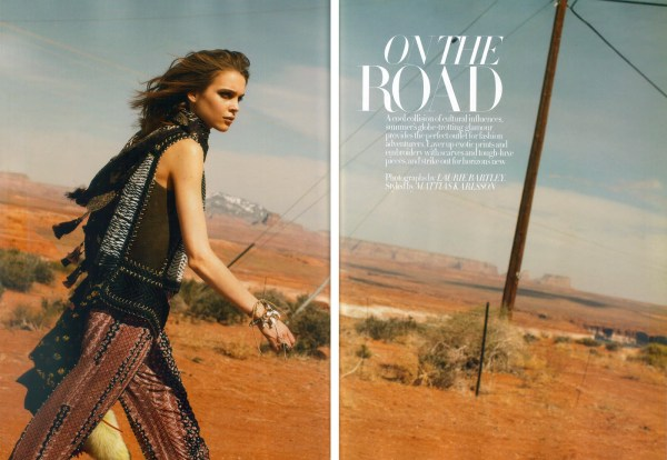 On The Road Kim Noorda by Laurie Bartley Styled by Mattias Karlsson UK Harper's Bazaar June 2010