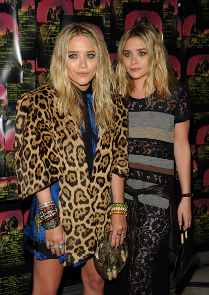 "Mary Kate & Ashley Olsen attends Art of Elysium ""Bright Lights"" with VERSUS by Donatella Versace and Christopher Kane at Milk Studios on April 30, 2010 in New York City."