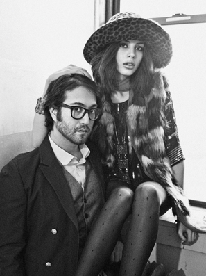 Sean Lennon & Charlotte Kemp fashion editorial