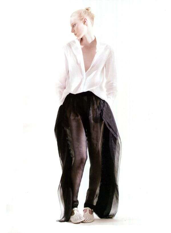 see through chiffon pants amica may 2010 fashion Alessandro Dal Buoni model: Julia Nobis